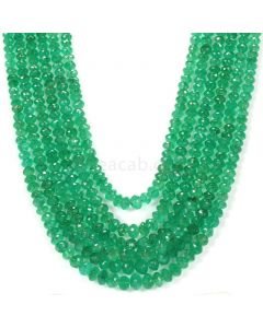 Medium Green Emerald Faceted Beads - 6 Lines - 783.00 - 4.7 to 8.8 mm (EMFB1071)