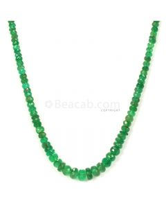 1 Line - Medium Green Emerald Faceted Beads - 44.93 - 2.4 to 6 mm (EMFB1074)