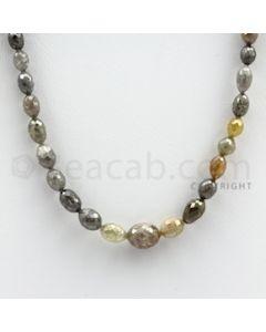Fancy Diamond Drum Beads - 1 Line - 71.61 carats (FncyDiaDr1007)