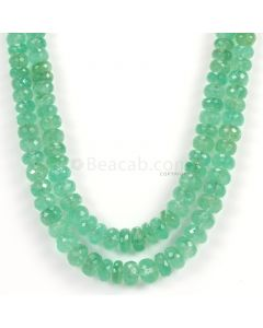 2 Lines - Light Green Emerald Faceted Beads - 415.05 - 4 to 9.5 mm (EMFB1086)