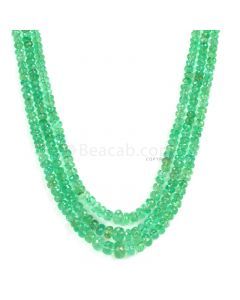 3 Lines - Light Green Emerald Faceted Beads - 199.12 - 2.9 to 8 mm (EMFB1061)