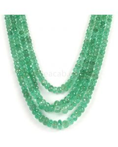 4 Lines - Light Green Emerald Faceted Beads - 215.00 - 2.5 to 7.2 mm (EMFB1094)