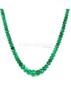 1 Line - Dark Green Emerald Faceted Beads - 54.00 - 2.7 to 7.1 mm (EMFB1105)