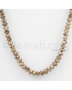Brown Diamond Faceted Beads - 1 Line - 45.50 carats (BrnDia1010)