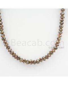 Brown Diamond Faceted Beads - 1 Line - 44.50 carats (BrnDia1016)