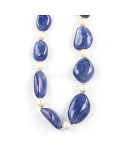 1 Line - Medium Violet Tanzanite Tumbled Beads - 344.50 - 12.3 x 9.6 mm to 22.3 x 15.5 mm (TZTUB1011)
