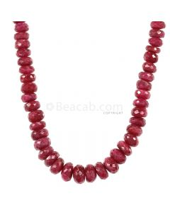 1 Line - Medium Red Ruby Faceted Beads - 241.40 - 4.6 to 9 mm (RFB1126)