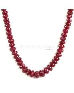 1 Line - Medium Red Ruby Faceted Beads - 179 - 4.1 to 8.2 mm (RFB1134)