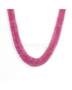 3 Lines - Light Pink Pink Sapphire Plain Beads - 136.4 cts - 2.8 to 4.8 mm (PNSPB1038)