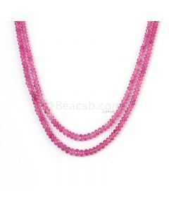 2 Lines - Light Pink Pink Sapphire Plain Beads - 87.9 cts - 2.8 to 4.2 mm (PNSPB1034)