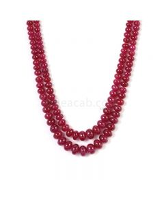 2 Lines - Medium Pink Pink Sapphire Plain Beads - 271.00 cts - 2.9 to 7.8 mm (PNSPB1028)