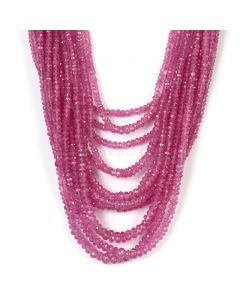 15 Lines - Light Pink Pink Sapphire Faceted Beads - 877.00 cts - 2.2 to 5.5 mm (PNSFB1055)