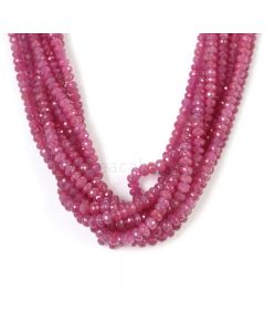 8 Lines - Light Pink Pink Sapphire Faceted Beads - 1140.00 cts - 3.9 to 6 mm (PNSFB1054)