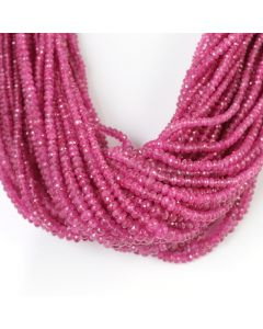 48 Lines - Medium Pink Pink Sapphire Faceted Beads - 2492.90 cts - 3 to 6.3 mm (PNSFB1045)