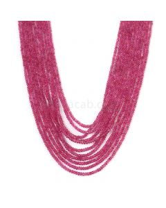 11 Lines - Medium Pink Pink Sapphire Plain Beads - 291.80 cts - 2.1 to 3 mm (PNSPB1026)