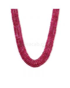 3 Lines - Medium Pink Pink Sapphire Plain Beads - 351.25 cts - 3.2 to 6.5 mm (PNSPB1024)