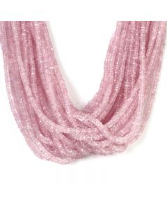 25 Lines - Light Pink Pink Sapphire Faceted Beads - 1162.90 cts - 2.4 to 4.8 mm (PNSFB1050)