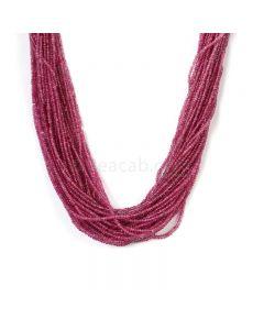 34 Lines - Medium Pink Pink Sapphire Plain Beads - 914.16 cts - 2.3 to 2.9 mm (PNSPB1030)