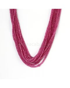 17 Lines - Medium Pink Pink Sapphire Faceted Beads - 584.27 cts - 2.7 to 4.7 mm (PNSFB1046)