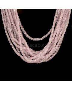 16 Lines - Light Pink Pink Sapphire Faceted Beads - 816.70 cts - 2.7 to 4.5 mm (PNSFB1049)