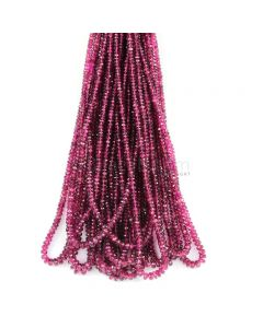 14 Lines - Dark Pink Tourmaline Faceted Beads - 673.25 cts - 2.9 to 5.0 mm (TOFB1021)