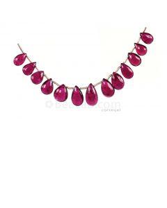 1 Line - Dark Pink Tourmaline Drops - 20.07 cts - 8 x 5.1 mm to 11.6 x 6.4 mm (TSD1202)