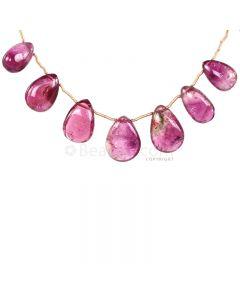 1 Line - Medium Pink Tourmaline Drops - 58.50 cts - 13 x 8.8 mm to 17.3 x 11.8 mm (TSD1203)
