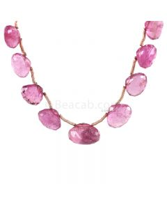 1 Line - Medium Pink Tourmaline Faceted Drops - 27.75 cts - 5 x 6.2 mm to 8 x 11.5 mm (TFD1290)