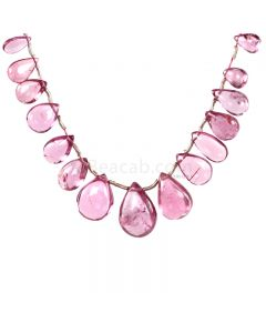 1 Line - Light Pink Tourmaline Drops - 30.00 cts - 7.2 x 4 mm to 13.6 x 9.5 mm (TSD1211)