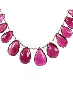 1 Line - Dark Pink Tourmaline Drops - 74.82 cts - 9.5 x 6.9 mm to 17.4 x 11.6 mm (TSD1212)