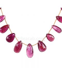 1 Line - Medium Pink Tourmaline Drops - 60.00 cts - 7.8 x 10.9 mm to 8.8 x 13.4 mm (TSD1206)