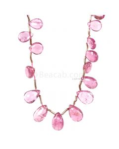 1 Line - Light Pink Tourmaline Drops - 16.5 cts - 6.5 x 4.4 mm to 8.9 x 5 mm (TSD1213)