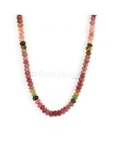 1 Line - Medium Tones Multi-Tourmaline Carved Beads - 159.50 cts - 7 to 7.6 mm (TOCARB1008)