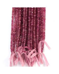 23 Lines - Medium Pink Tourmaline Faceted Beads - EEEE cts - 5.7 to 6.2 mm (TOFB1031)