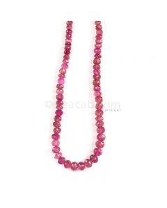 1 Line - Medium Pink Tourmaline Faceted Beads - 148.00 cts - 4.8 to 7.5 mm (TOFB1032)