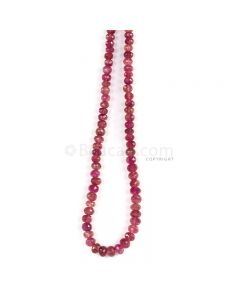 1 Line - Medium Pink Tourmaline Faceted Beads - 194.00 cts - 5.1 to 7.6 mm (TOFB1033)