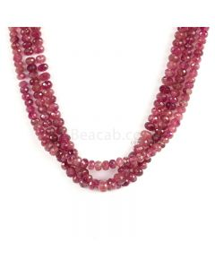 3 Lines - Medium Pink Tourmaline Faceted Beads - 370.00 cts - 5.5 to 7.3 mm (TOFB1030)