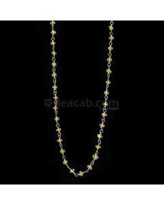 1 Line - Medium Yellow Yellow Sapphire Faceted Beads & Gold Necklace - 18.04 cts - 2.6 to 2.9 mm (GWWCS1130)