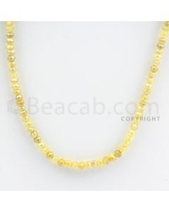 3.50 to 4.50 mm - Yellow Diamond Faceted Beads - 55.96 carats - 15 inches (YDia1011)-OOS