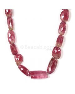 1 Line - Pink Tourmaline Faceted Beads - 503.50 cts - 11.7 x 8.4 mm to 28 x 13.7 mm (TOFB1039)