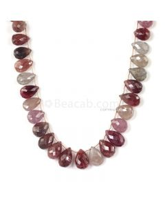 1 Line - Medium Tones Multi Sapphire Faceted Drops - 391.00 cts - 13.8 x 9.3 mm to 15.5 x 11 mm (MSFD1044)