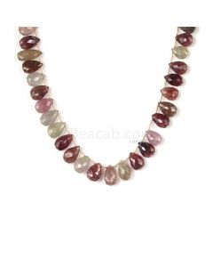 1 Line - Medium Tones Multi Sapphire Faceted Drops - 314.00 cts - 11.2 x 8 mm to 13.8 x 8.8 mm (MSFD1043)