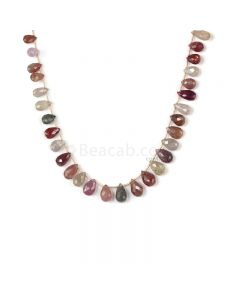 1 Line - Medium Tones Multi Sapphire Faceted Drops - 150.50 cts - 9.1 x 4.4 mm to 13 x 7.8 mm (MSFD1041)