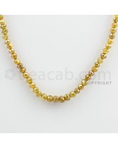 3.00 to 4.00 mm - Yellow Diamond Faceted Beads - 44.47 carats - 14.5 inches (YDia1007)