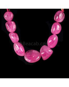 1 Line - Medium Pink Tourmaline Tumbled Beads - 323.00 cts - 16.8 x 15.3 mm to 27 x 24 mm (TOTUB1065)