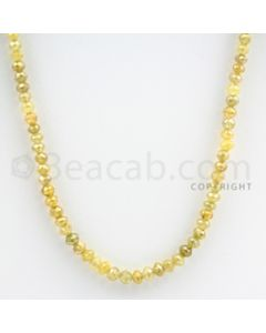 3.50 to 4.00 mm - Yellow Diamond Faceted Beads - 48.90 carats - 16 inches (YDia1008)
