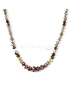 1 Line - Medium Tones Diamond Faceted Beads - 59.50 cts - 2.4 to 7.2 mm (FNCYDIA1033)