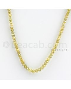 2.50 to 3.50 mm - Yellow Diamond Faceted Beads - 29.14 carats - 16 inches (YDia1014)