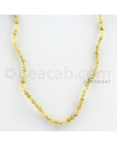 3.00 to 4.00 mm - Yellow Diamond Faceted Beads - 41.25 carats - 16 inches (YDia1015)