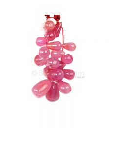 1 Line - Medium Pink Pink Sapphire Drops - 39.35 cts - 7.9 x 4.4 mm to 11.1 x 4.6 mm (PSDR1025)